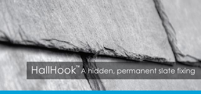HallHook, a hidden permanent slate fixing